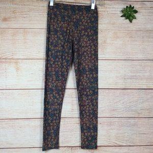 LulaRoe floral printed leggings tween size